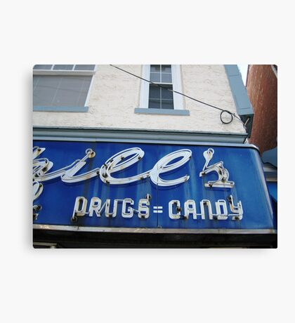 DRUGS=CANDY Canvas Print