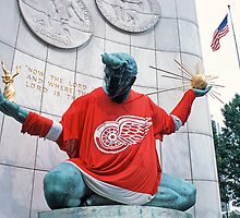 The Spirit of Detroit - Go Wings! by Bill Spengler