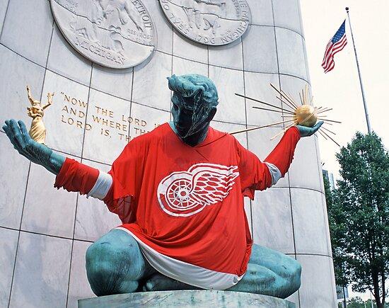 The Spirit of Detroit - Go Wings! by Bill Spengler