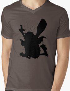 Captain Caveman Silhouette Mens V-Neck T-Shirt