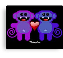 MUNKEY LOVE Canvas Print