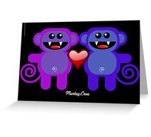 MUNKEY LOVE Greeting Card