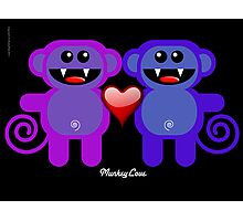 MUNKEY LOVE Photographic Print