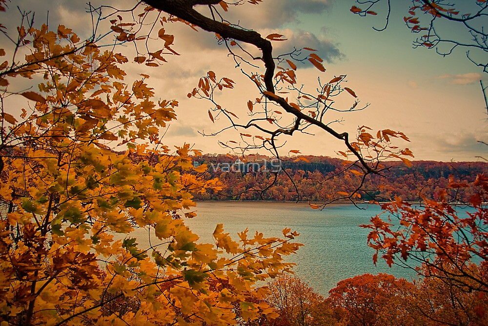 USA. New York. View from Fort Tryon Park at Hudson river. by vadim19