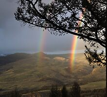 Double Rainbow at Yellowstone by Mully410