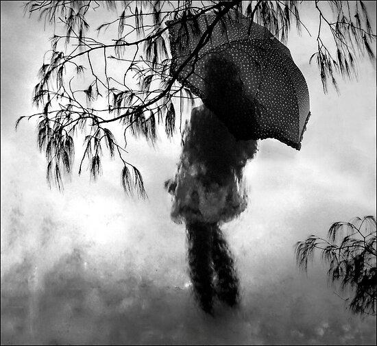 woman in the rain II by carol brandt