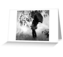 woman in the rain II Greeting Card