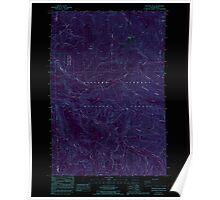 USGS Topo Map Washington State WA Siouxon Peak 243730 1986 24000 Inverted Poster