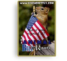 Animal Bill of Rights Canvas Print