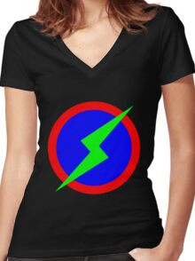 RGB man Women's Fitted V-Neck T-Shirt
