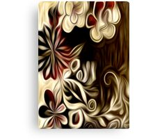 Abstract Flowers Oil Painting #1 Canvas Print
