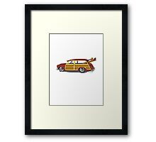 Surf n Safari Framed Print