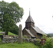 Hayangerfford church near Bergen, Norway. Haulhous wooden church. by Grace Johnson