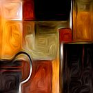 Abstract Squares Oil Painting #1 by Fred Seghetti