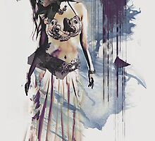 Bellydancer Abstract by Galen Valle