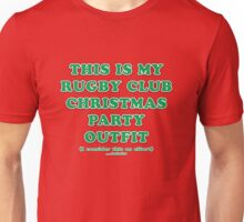 Rugby Club - Christmas - Green on Red Unisex T-Shirt