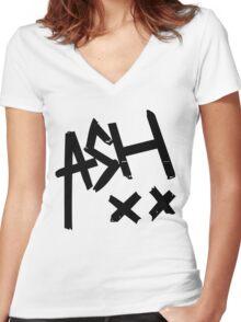 Ashton Irwin (Ash xx signature) Women's Fitted V-Neck T-Shirt