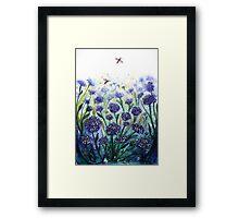Happy Hydrangeas Framed Print
