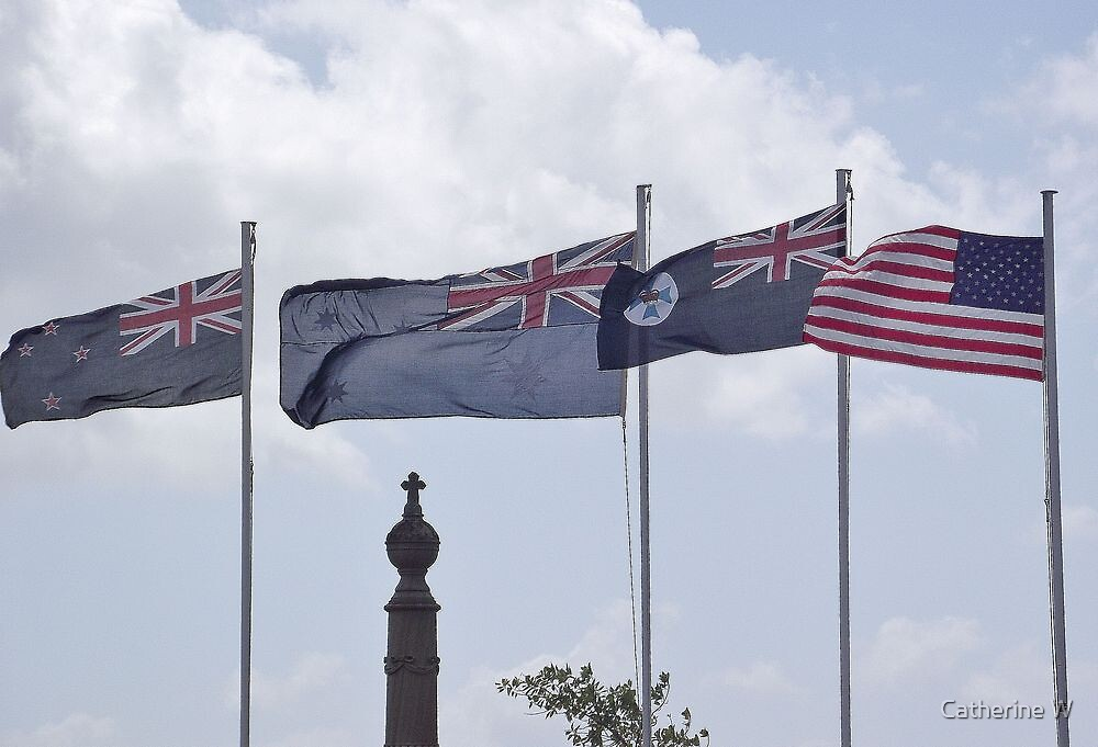 ANZAC Day Flags by cathywillett