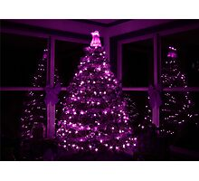 PURPLE CHRISTMAS Photographic Print