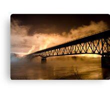 Peace River Bridge Night Shot Canvas Print