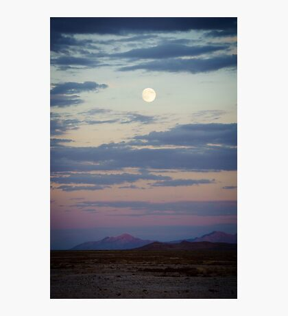 Desert Moonrise Photographic Print