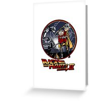 rick and morty back to the future  Greeting Card