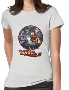 rick and morty back to the future  Womens Fitted T-Shirt