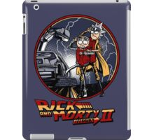 rick and morty back to the future  iPad Case/Skin