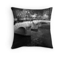 Evening Pont Neuf Bridge, Paris Throw Pillow