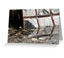 Broken Reflections – Sans Green Greeting Card