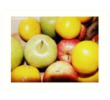 An apple a day.. Art Print