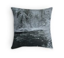 Frosted Wonderland Throw Pillow