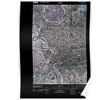 USGS Topo Map Washington State WA Spokane NW 20110503 TM Inverted Poster