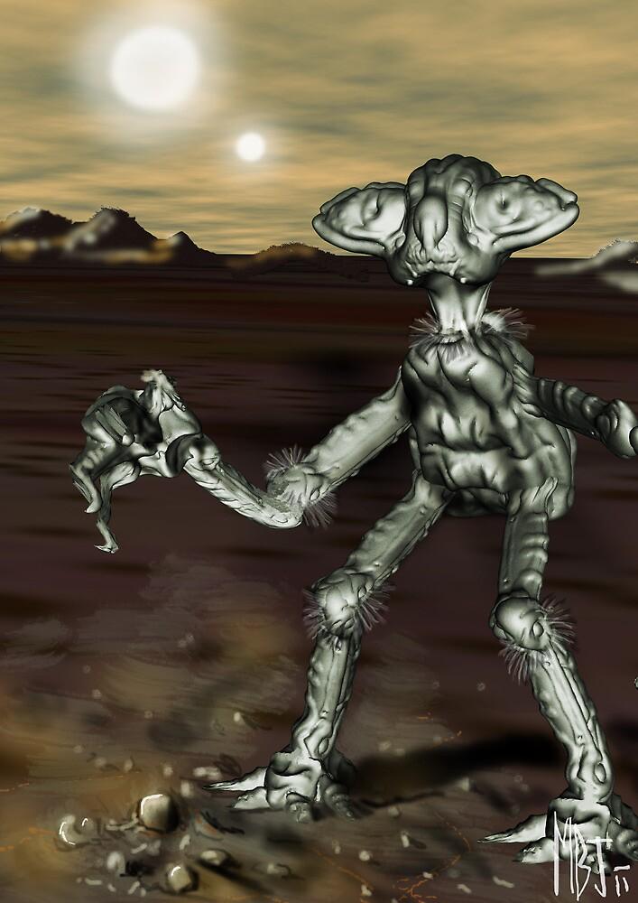 Alien Model from the Video, 'The Space Song' (MBJ) by Matt Bissett-Johnson