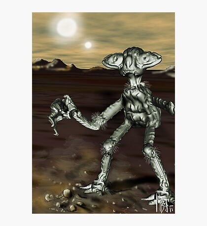 Alien Model from the Video, 'The Space Song' (MBJ) Photographic Print