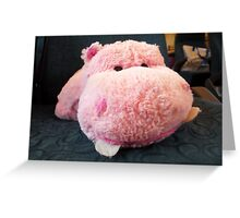 Hippo Commuter Greeting Card