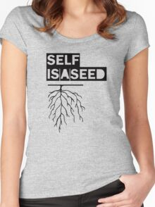 SELF IS A SEED Women's Fitted Scoop T-Shirt