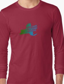 New York is a state of mind - Green/blue Long Sleeve T-Shirt