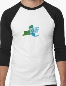New York is a state of mind - Green/blue Men's Baseball ¾ T-Shirt