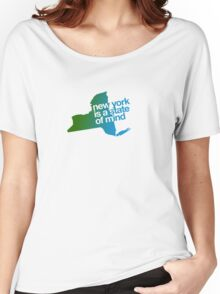 New York is a state of mind - Green/blue Women's Relaxed Fit T-Shirt