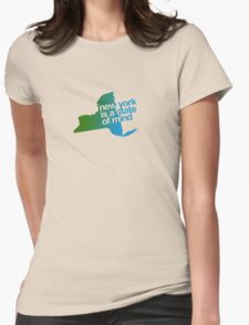 New York is a state of mind - Green/blue Womens Fitted T-Shirt