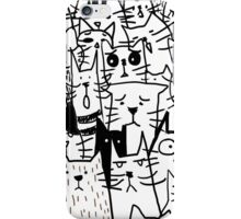 Cats doodle iPhone Case/Skin