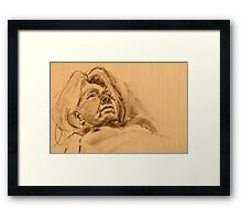 Portrait of the nude model  Framed Print