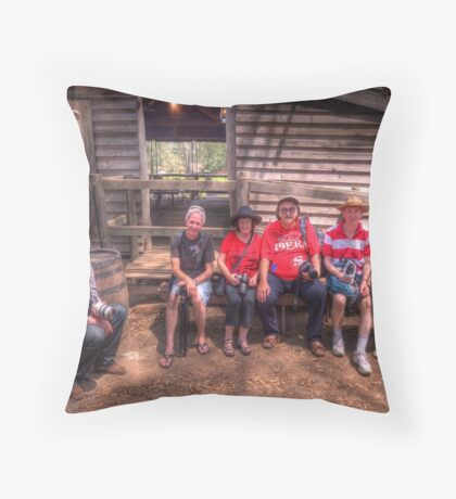 Rumble We Will Go - Red Bubble Rumble - Australian Pioneer Village  Throw Pillow