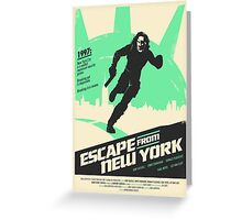 Escape From New York (1981) Custom Poster Greeting Card