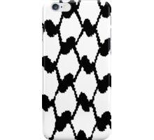 Black an white hatta/koufeyeh iPhone Case/Skin