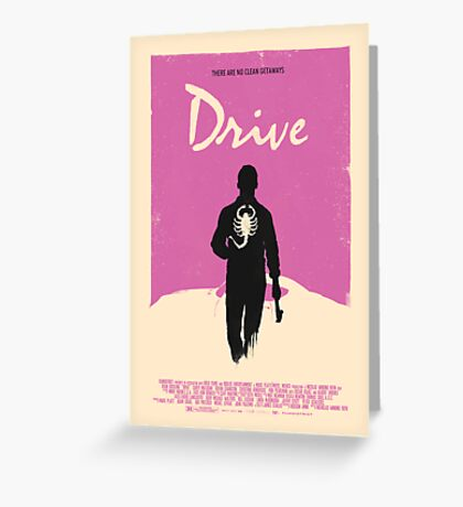 Drive (2011) Custom Poster Greeting Card
