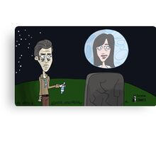 Space Jimmy Significant Mother music video - Moon scene Canvas Print