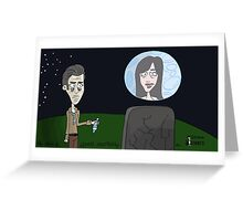 Space Jimmy Significant Mother music video - Moon scene Greeting Card